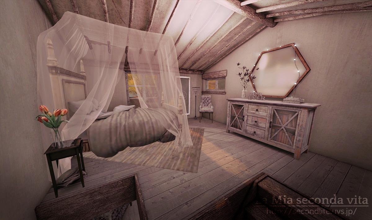 secondlife-Kaleidoscope11 セカンドライフ 白い寝室
