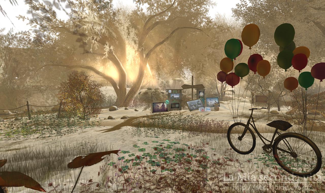 セカンドライフ 自転車と風船