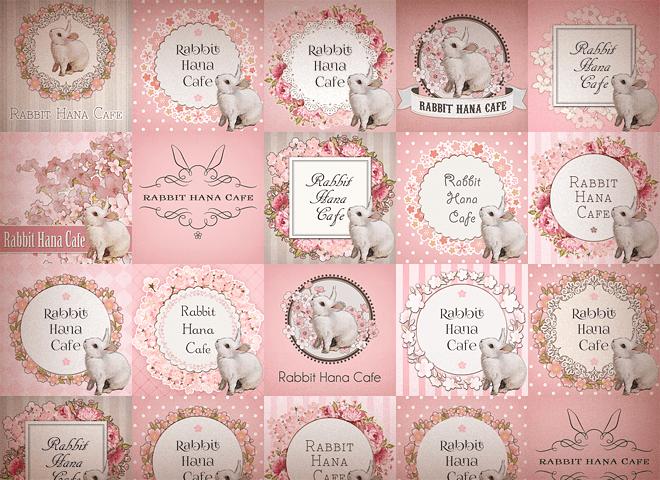 Rabbit Hana Cafeさんの看板をデザインさせて頂きました!