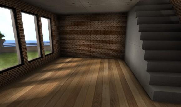 セカンドライフ 画質設定:高 一階窓