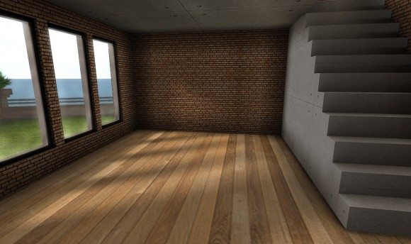 セカンドライフ 画質設定:低 一階窓