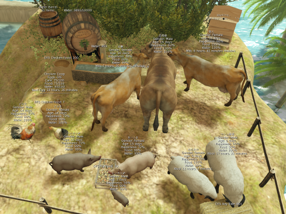 Secondlife DFS animals