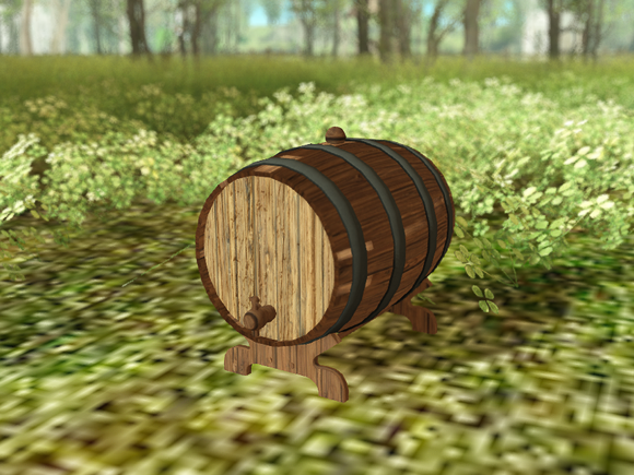 Secondlife DFS Wine Barrel